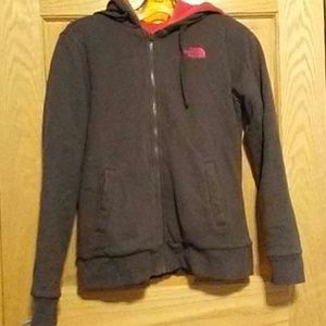 The North face zipup sweater